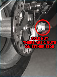 pocket bike axle nuts